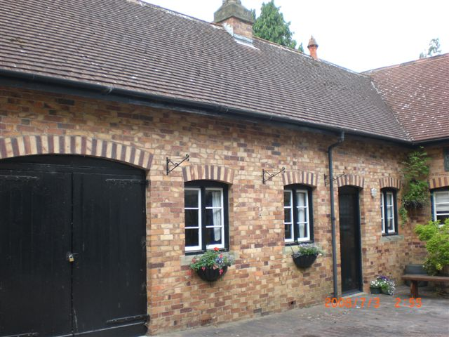Coachman's cottage from the courtyard