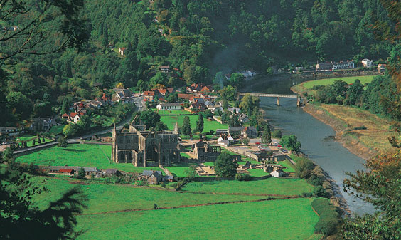 A view of Tintern Abbey